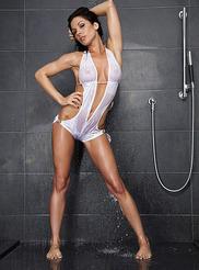 Stupendous pornstar with big tits Kirsten Price taking shower  1404122