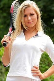 Blonde Tennis Babe